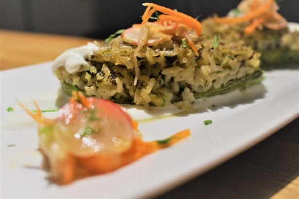 Stuffed Zucchini Boats with Rice and Potatoes